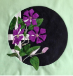 Clematis Applique Kit - purple