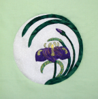 Mini Iris 5 Applique Pattern