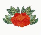 Mini Peony Applique Pattern