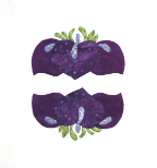 Mini Iris Double Applique Pattern