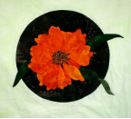 Orange!  Flower Applique Pattern