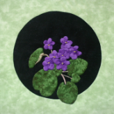 African Violets Applique Pattern